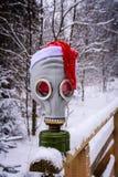 Μάσκα αερίου το χειμώνα Στοκ Εικόνα