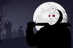 μάσκα δολοφόνων αποκριών Στοκ εικόνες με δικαίωμα ελεύθερης χρήσης