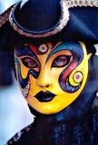 μάσκα κίτρινη Στοκ Εικόνες