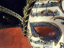 Μάσκα και μουσική Στοκ εικόνες με δικαίωμα ελεύθερης χρήσης
