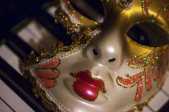 Μάσκα και μουσική Στοκ φωτογραφίες με δικαίωμα ελεύθερης χρήσης