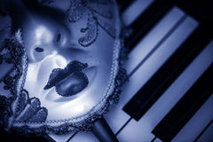 Μάσκα και μουσική Στοκ φωτογραφία με δικαίωμα ελεύθερης χρήσης