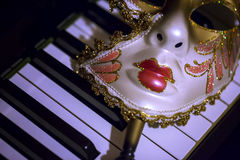 Μάσκα και μουσική Στοκ Εικόνες