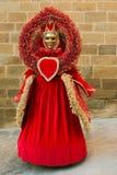 Μάσκα καρναβαλιού: κόκκινη βασίλισσα της καρδιάς Στοκ φωτογραφία με δικαίωμα ελεύθερης χρήσης