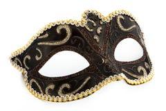 μάσκα καρναβαλιού πέρα από το λευκό Στοκ Εικόνες