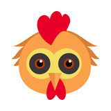 Μάσκα καρναβαλιού πουλιών κοκκόρων Πτηνά κοτών κοτόπουλου κοκκόρων διανυσματική απεικόνιση