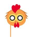 Μάσκα καρναβαλιού πουλιών κοκκόρων Πτηνά κοτών κοτόπουλου κοκκόρων απεικόνιση αποθεμάτων
