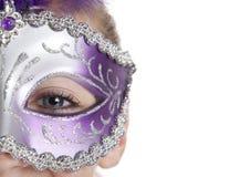 μάσκα κοριτσιών Στοκ Εικόνες