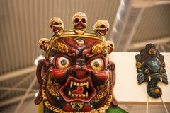 Μάσκα με τα κρανία στο φεστιβάλ της Ανατολής στη Ρώμη Ιταλία Στοκ εικόνα με δικαίωμα ελεύθερης χρήσης