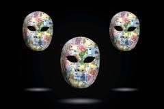 Μάσκα με τα χρήματα Στοκ Φωτογραφίες