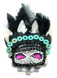 Μάσκα με τις χάντρες και τα κοσμήματα πολύτιμων λίθων Στοκ εικόνα με δικαίωμα ελεύθερης χρήσης
