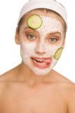 Μάσκα με το cucmber στοκ φωτογραφία με δικαίωμα ελεύθερης χρήσης