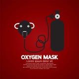 Μάσκα οξυγόνου με τη δεξαμενή Στοκ Εικόνες