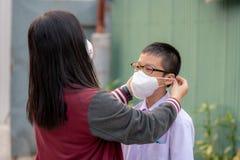 Μάσκα προστασίας σκόνης στοκ φωτογραφίες