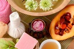 Μάσκα προσώπου και ακανθωτή πικρή κολοκύθα Jackfruit μωρών σαπουνιών, γλυκιά κολοκύθα, και κολοκύθα και μέλι Cochinchin Στοκ εικόνα με δικαίωμα ελεύθερης χρήσης