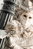 Μάσκα σε καρναβάλι, πλατεία SAN Marco, Βενετία, Ιταλία Στοκ Φωτογραφία