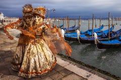 Μάσκα της Βενετίας καρναβάλι ανθρώπων Στοκ Εικόνες