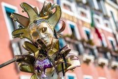 Μάσκα του κλόουν στη Βενετία καρναβάλι 2018 Στοκ Εικόνες