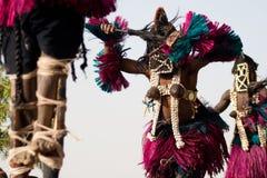 μάσκα του Μαλί χορού dogon θηλ& στοκ εικόνα