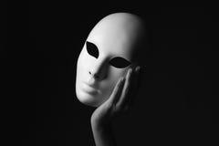 Μάσκα υπό εξέταση ημερολογιακής έννοιας ημερομηνίας ο απαίσιος μικροσκοπικός θεριστής εκμετάλλευσης αποκριών ευτυχής λέει τη στάσ στοκ εικόνες με δικαίωμα ελεύθερης χρήσης