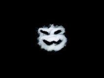 Μάσκα φρίκης στο μαύρο υπόβαθρο Στοκ Εικόνα