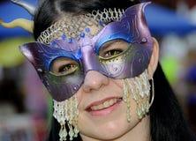 μάσκα 2 κοστουμιών περίκομ Στοκ εικόνες με δικαίωμα ελεύθερης χρήσης