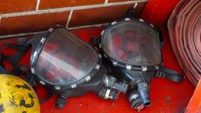 Μάσκες αερίου πυροσβεστών Στοκ φωτογραφίες με δικαίωμα ελεύθερης χρήσης