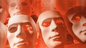 Μάσκες ανθρώπων πίεσης απόθεμα βίντεο