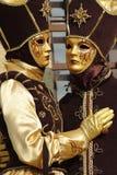 μάσκες Βενετός κοστουμ Στοκ Εικόνες