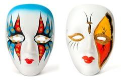 μάσκες δύο Στοκ εικόνα με δικαίωμα ελεύθερης χρήσης