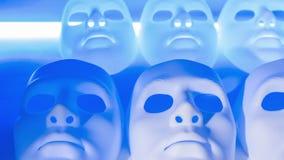 μάσκες διακοπών διασκέδασης καρναβαλιού απόθεμα βίντεο