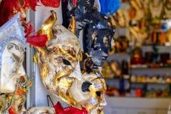 Μάσκες καρναβαλιού για την πώληση σε ένα κατάστημα αναμνηστικών στη Βενετία, Ιταλία Στοκ εικόνες με δικαίωμα ελεύθερης χρήσης