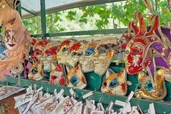 Μάσκες καρναβαλιού για την πώληση Στοκ Εικόνα