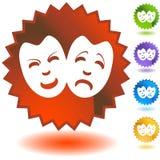 μάσκες κωμωδίας Στοκ εικόνα με δικαίωμα ελεύθερης χρήσης