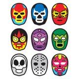 Μάσκες πάλης Στοκ εικόνα με δικαίωμα ελεύθερης χρήσης