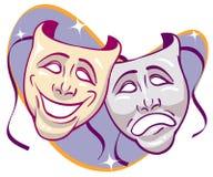 Μάσκες δράματος Στοκ Εικόνες