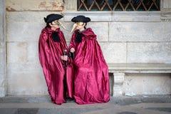 Μάσκες σε ενετικό καρναβάλι 2014, Βενετία, Ιταλία Στοκ Εικόνα