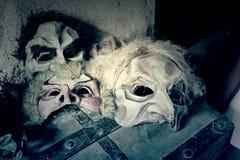 Μάσκες τρόμου Στοκ φωτογραφία με δικαίωμα ελεύθερης χρήσης