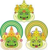 μάσκες kathakali Στοκ φωτογραφία με δικαίωμα ελεύθερης χρήσης