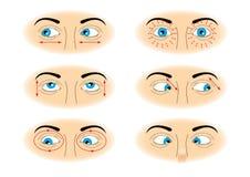 μάτια ασκήσεων Στοκ Εικόνες