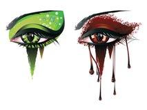 Μάτια βαμπίρ καρναβαλιού Στοκ Εικόνες