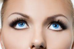 μάτια γυναικεία Στοκ φωτογραφία με δικαίωμα ελεύθερης χρήσης