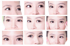 Μάτια γυναικών ομορφιάς στοκ φωτογραφία με δικαίωμα ελεύθερης χρήσης