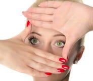 Μάτια γυναικών Στοκ φωτογραφία με δικαίωμα ελεύθερης χρήσης