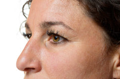 Μάτια και μύτη μιας ελκυστικής γυναίκας Στοκ φωτογραφία με δικαίωμα ελεύθερης χρήσης
