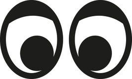 Μάτια κινούμενων σχεδίων με το βλέφαρο διανυσματική απεικόνιση
