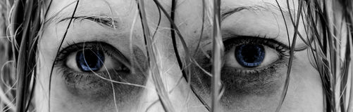 μάτια λυπημένα Στοκ Εικόνα