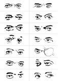 Μάτια με emotions1 Στοκ Εικόνες