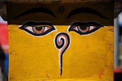 μάτια Νεπάλ του Βούδα Στοκ Εικόνα