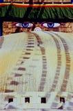 μάτια Νεπάλ του Βούδα Στοκ φωτογραφία με δικαίωμα ελεύθερης χρήσης